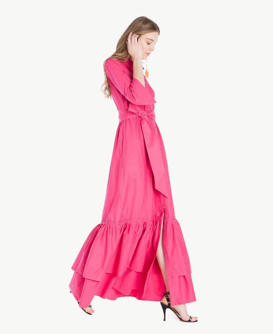 Langes Kleid aus Popeline Provocateur Pink Frau TS821B-02
