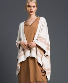 Reversible knit cape Cream / Nude Beige Woman 192LI3ZBB-02