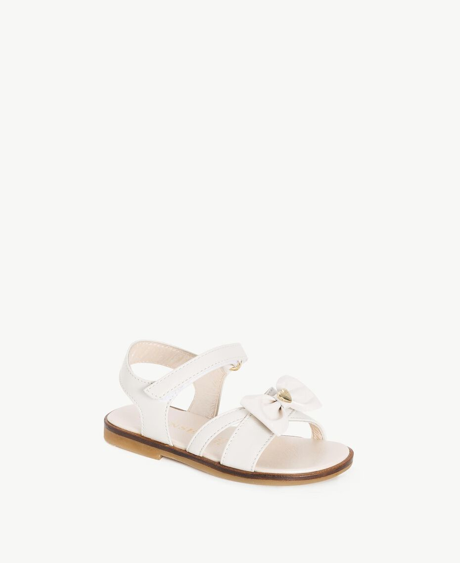 Bow sandals Pale Cream Child HS86CQ-02