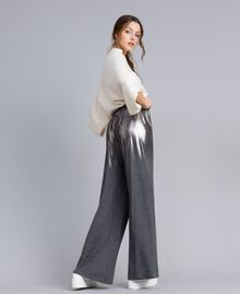 Jersey palazzo trousers Medium Gray Mélange Woman IA81KK-03