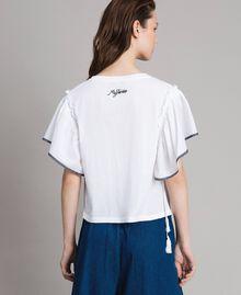 T-shirt avec broderie en point de croix Blanc Femme 191MT2400-03