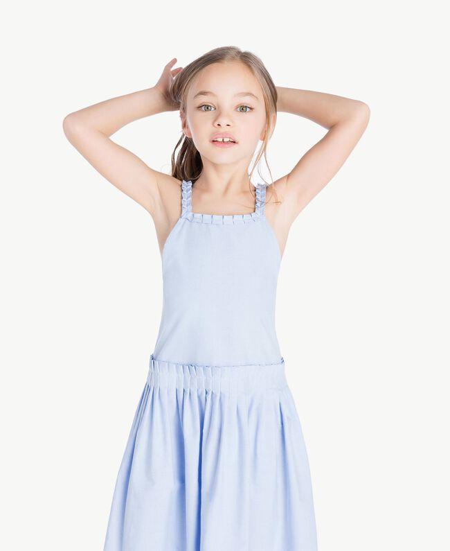 Ruched dress Infinite Light Blue Jacquard Child GS82QC-05