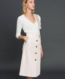 Faux leather midi skirt White Snow Woman 192TT203B-01