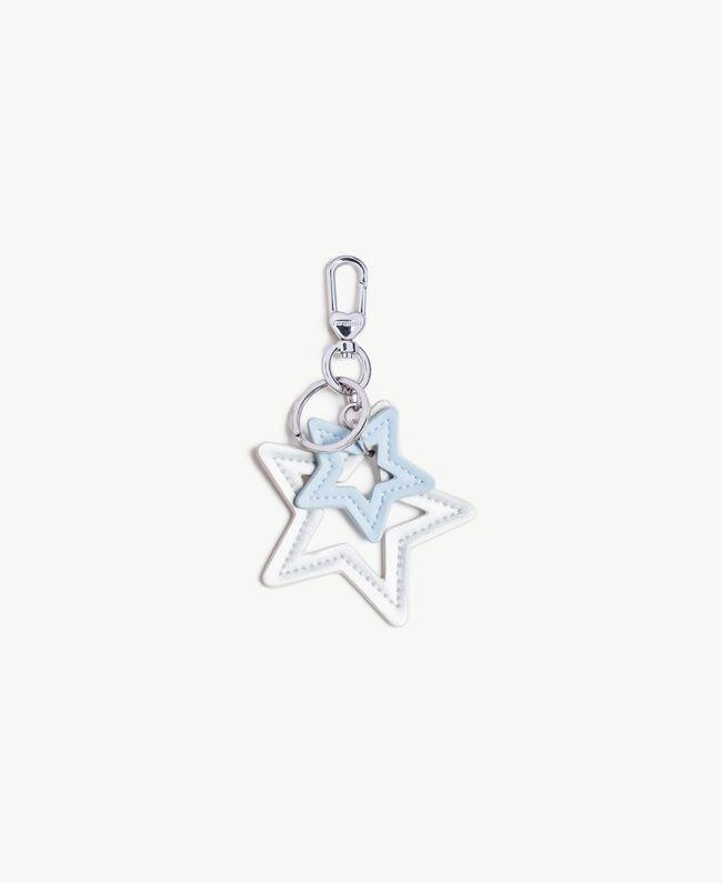 Porte-clés étoile Bicolore Argent / Topaze Bleue Femme VS8PE1-01