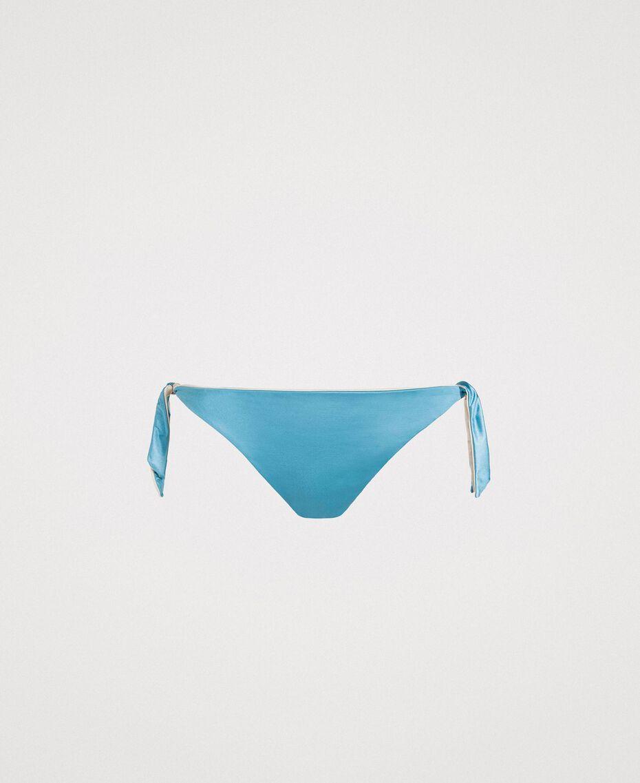 "Doubleface-Bikinitanga ""Daylight Blue"" Blau Frau 191LMMC77-01"