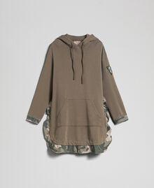 Maxisweatshirt mit Camouflagedetails Armeegold / Camouflageprint Frau 192TP2040-0S