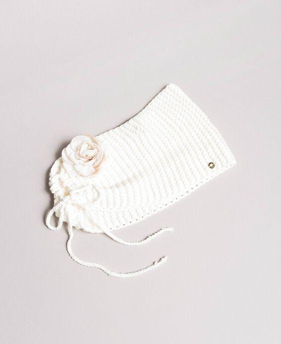 Coprispalle in maglia con fiore