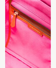 TWINSET Canvas backpack Two-tone Provocateur Pink / Leather Woman OS8TAG-04