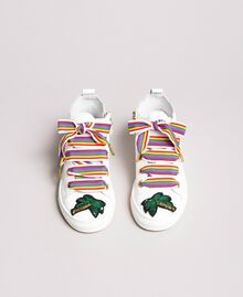 Leather sneakers with patch White Child 191GCJ146-04