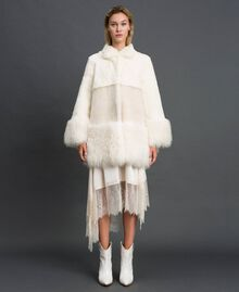 Mixed fur coat White Snow Woman 192TT2390-02