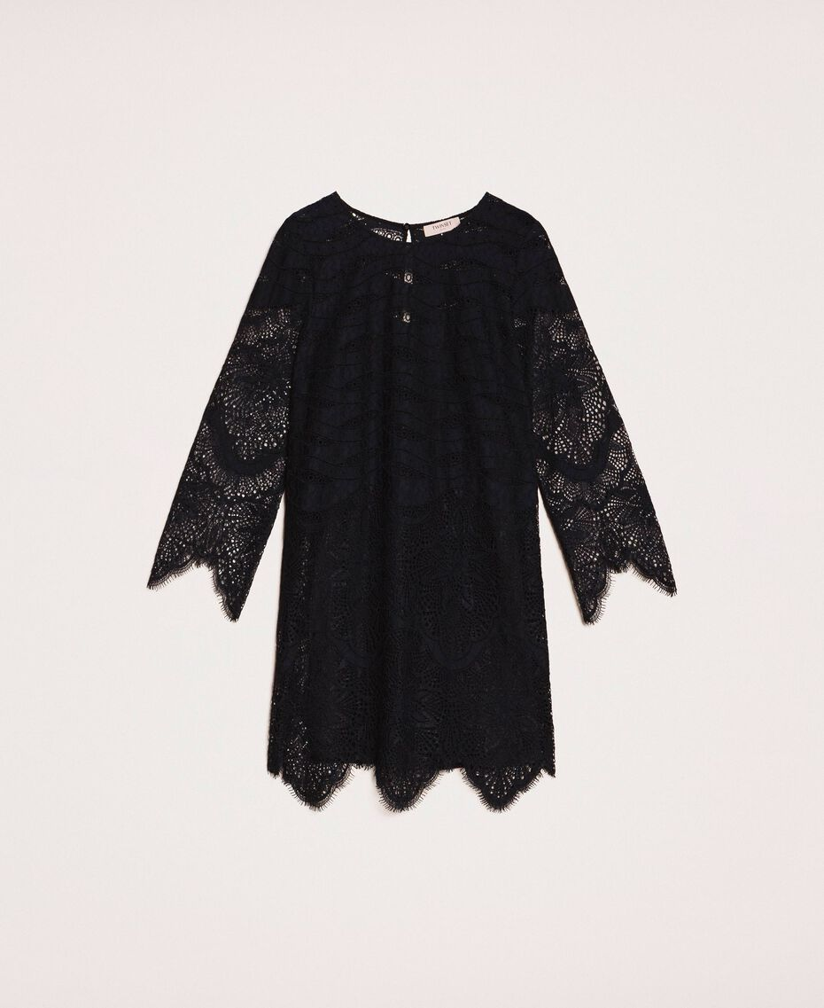 Macramé lace dress Black Cherry Woman 201TP2030-0S