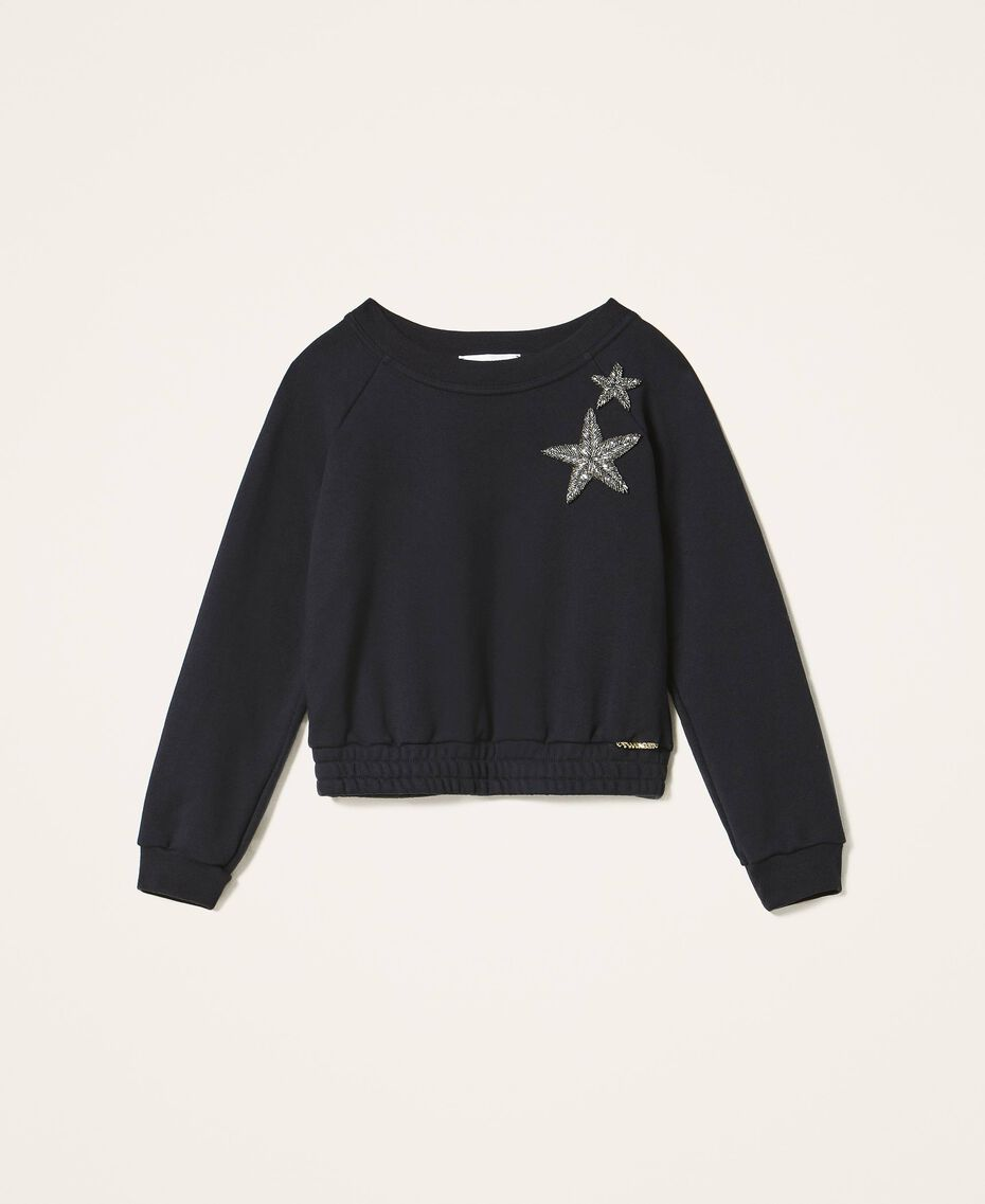 Sweatshirt with star embroidery Black Child 202GJ261B-0S