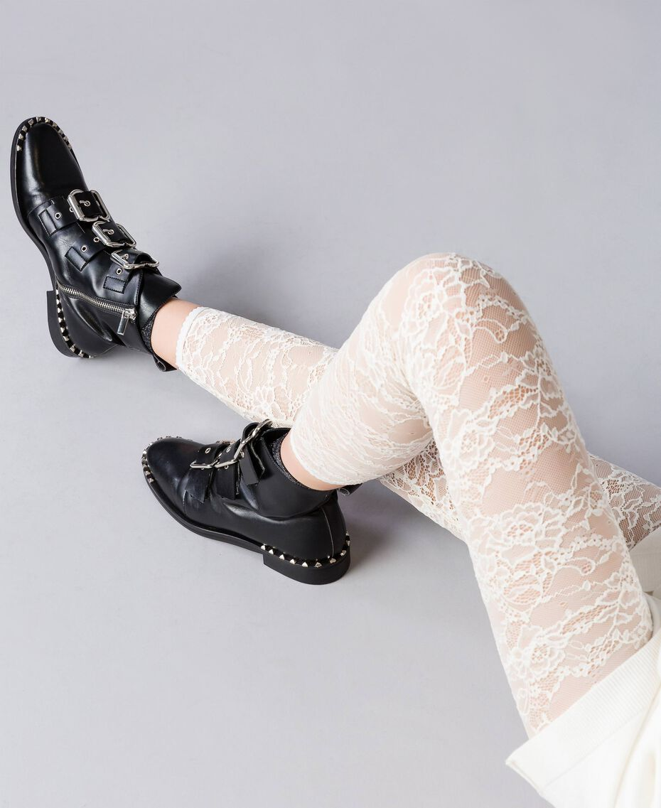 Legging en dentelle Nacre Femme JA82GD-02