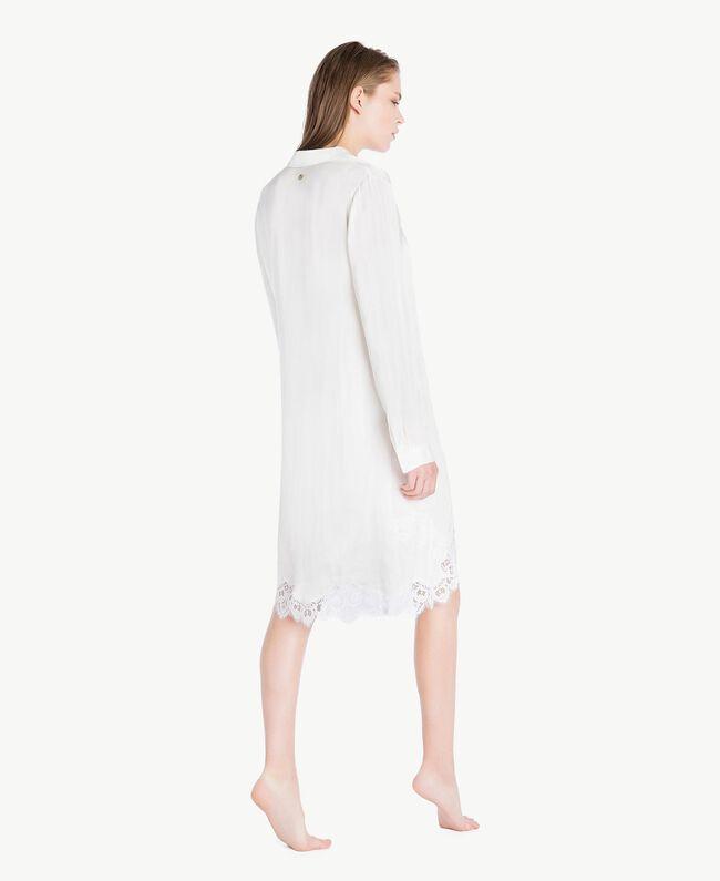 Satin nightdress Ivory Woman LS8CLL-04