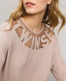 """Pullover mit Tüllbügel und Logo """"Grey Dust"""" Grau Frau 191LL23BB-01"""