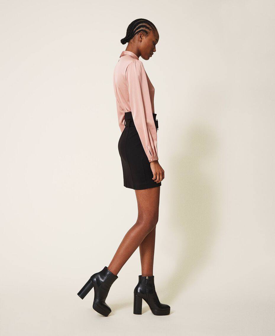 """Two-tone dress with sheath skirt Two-tone Black / """"Vintage"""" Pink Woman 202ST2027-02"""