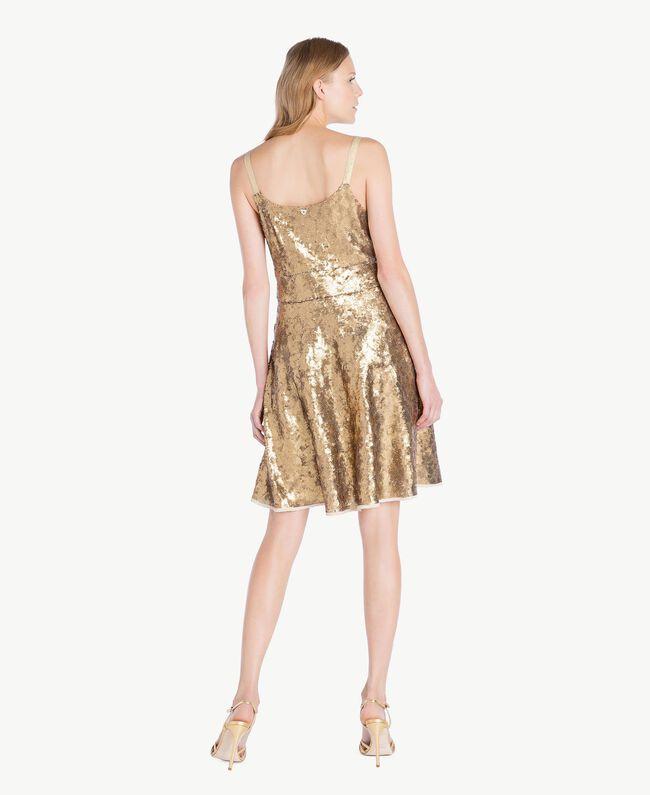 TWINSET Laminated sandals Gold Yellow Woman CS8TBG-06