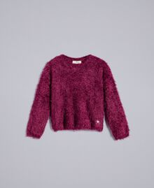 "Pullover mit Schlingenstich ""Sweet Grape""-Violett Kind GA83D2-01"