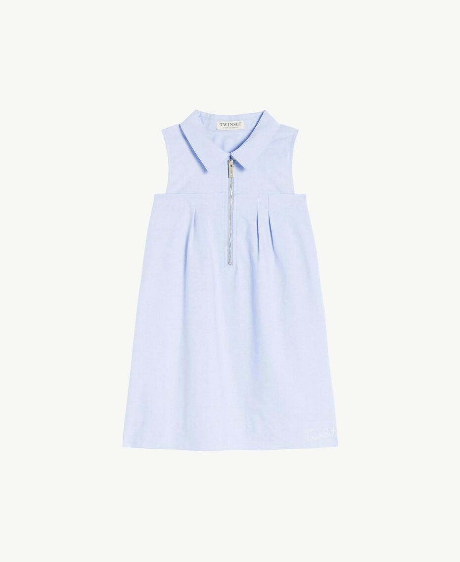 Robe fronce Jacquard Bleu Infini Enfant GS82QA-01