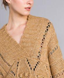 Mélange effect maxi jumper Camel Woman PA8371-04