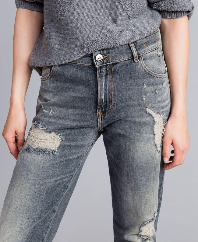 Jeans in Vintageoptik Denim-Grau Frau JA82YB-04