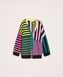 Maxi cardigan with multicolour stripes Multicolour Woman 201ST3100-0S