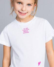 T-shirt unisexe junior en coton avec imprimé Blanc Enfant QA8TMP-03