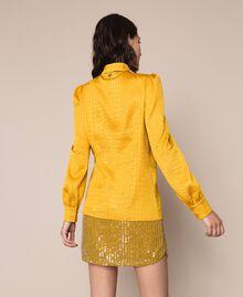 Camicia jacquard con stampa coccodrillo Miele Donna 201TP2320-03