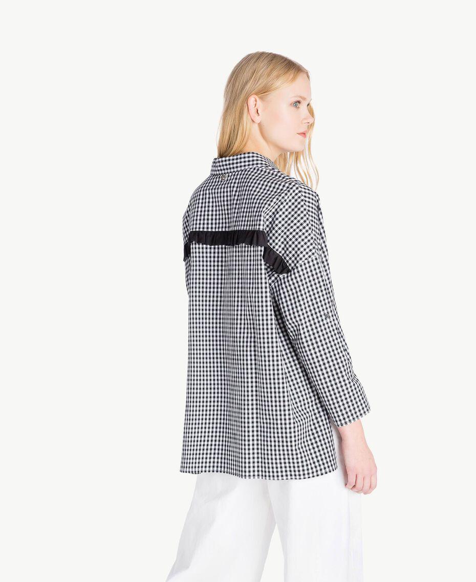 Camicia Vichy Bicolor Vichy Bianco Ottico / Nero Donna JS82EP-03