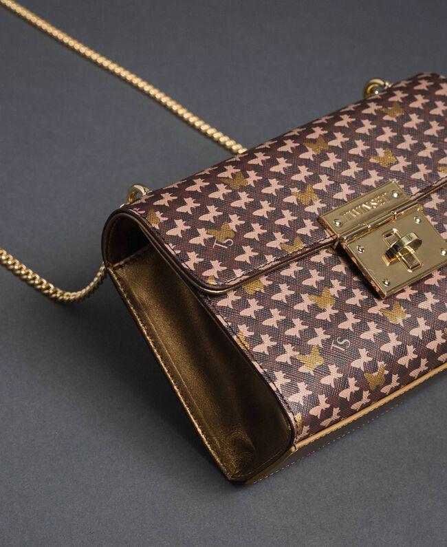 Petit sac à bandoulière avec imprimé papillons Imprimé Papillon Or Foncé Femme 192TO801M-01