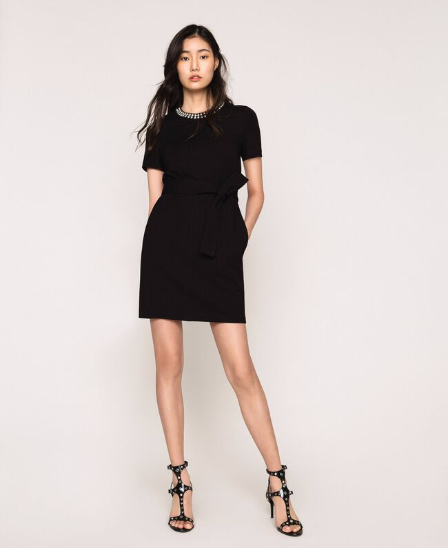 Dress with studs Black Woman 201MP2211-01
