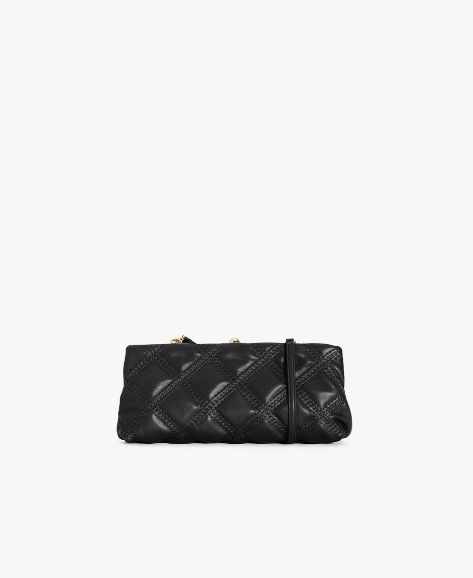 TWINSET Quilted clutch bag Black Female VA7PCT-03