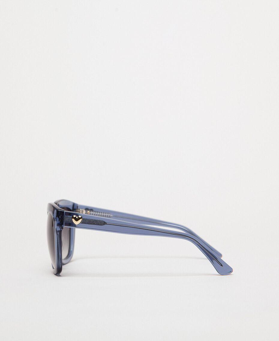 Occhiali da sole squadrati Grigio / Azzurro Donna 999TZ4012-02