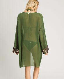 Kimono mit Pailletten Amazonas Grün Frau 191LM2CEE-03