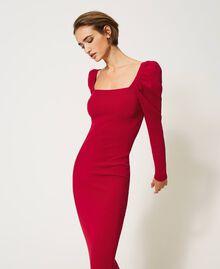 "Knit sheath dress ""Cerise"" Fuchsia Woman 202MP3055-03"