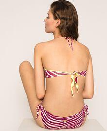 Printed bandeau bikini top Flirty Rose Zebra Print Woman 201LBMG11-03