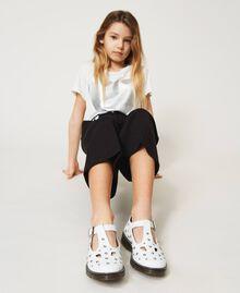 Studded leather ballerina shoes White Snow Child 211GCJ130-0S
