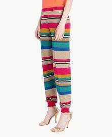 Pantalón de lúrex Raya Multicolor Lúrex Mujer TS833R-02
