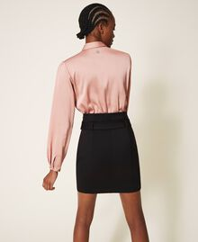"Two-tone dress with sheath skirt Two-tone Black / ""Vintage"" Pink Woman 202ST2027-04"