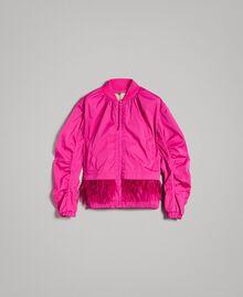 "Бомбер из технической ткани с перьями ""Electric Pink"" Фуксия женщина 191TP2011-0S"