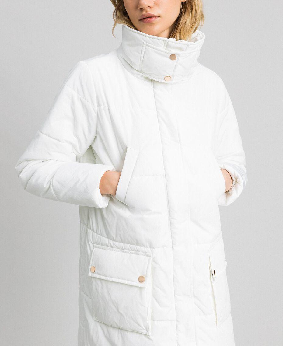 Long puffer jacket with high neck Ivory Woman 192LI2JAA-05