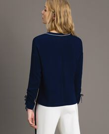 Viscose georgette blouse Midnight Blue Woman 191TP2321-03