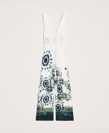 """Jumpsuit with crochet and print """"Atlantic Deep"""" Blue Unevenly Dyed Print Woman 201LB3GAA-0S"""
