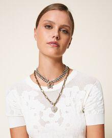 Collier ras-de-cou avec pendentifs Cristal Femme 202TO5047-0S