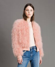 Feather bomber Pink Pearl Woman 191TP2080-02