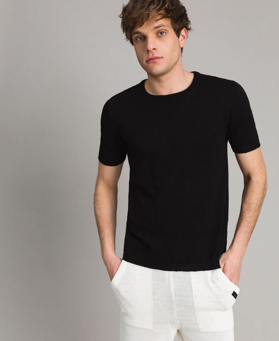 Cotton blend slub T-shirt