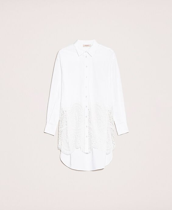 Poplin shirt with lace