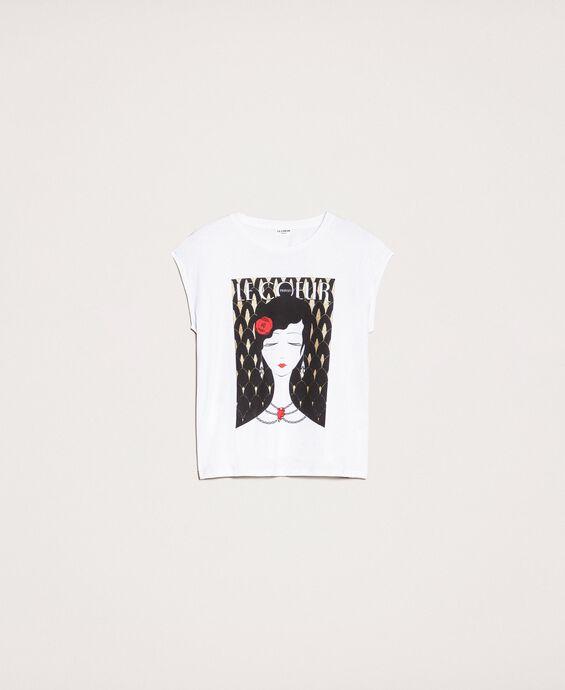 T-Shirt mit Print und Logo