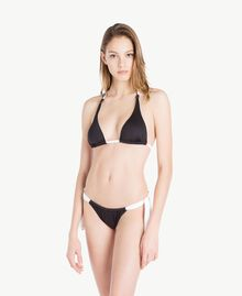 Bow tanga Two-tone Black / Optical White Woman MS8F88-02
