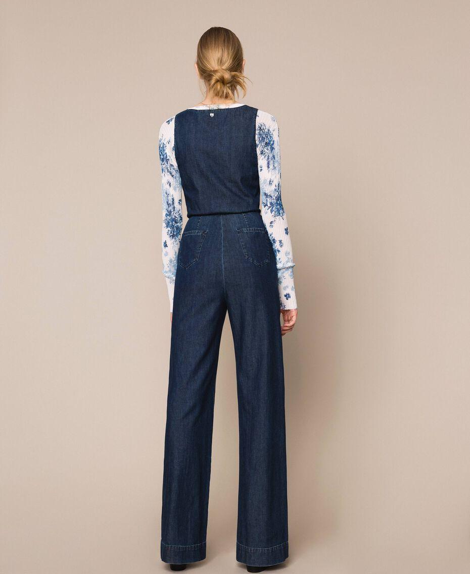Denim jumpsuit with zip Denim Blue Woman 201MT2196-03